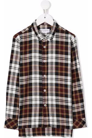 Paolo Pecora Kids Check-print cotton shirt