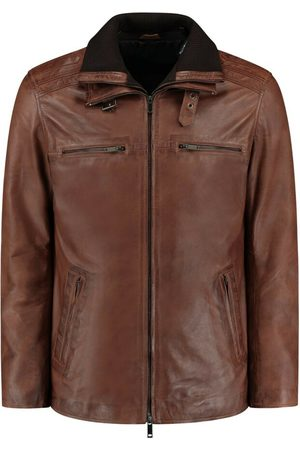 Leather Hype FLEX BROWN LEATHER PARKA