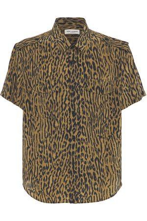 SAINT LAURENT Silk Military Shirt