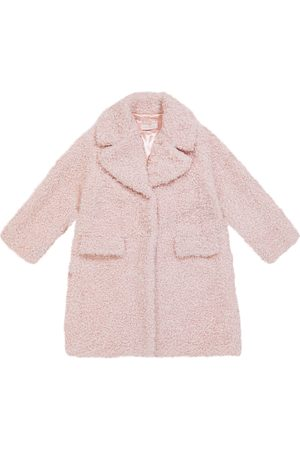 Monnalisa Teddy faux shearling coat