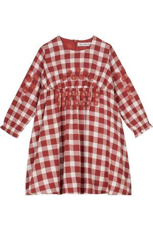 Tartine et Chocolat Embroidered checked cotton dress