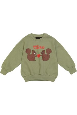 Mini Rodini Wild at Heart organic cotton jersey sweatshirt