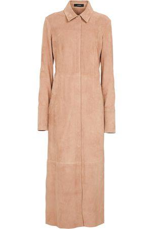 JOSEPH Casia suede and leather maxi dress