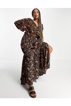 Free People Kvinder Mønstrede nederdele - Secret Garden - sæt med top og nederdel med print