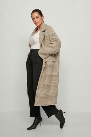 NA-KD Trend Kvinder Frakker - Ternet oversize frakke