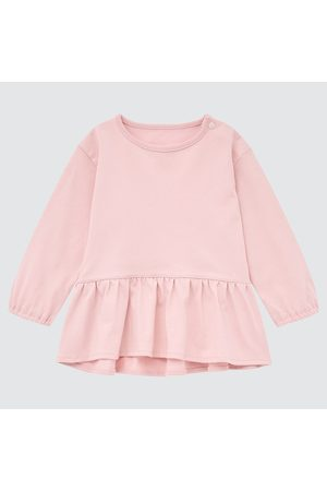 UNIQLO Babies Toddler AIRism Cotton Frilled Long Sleeved Top