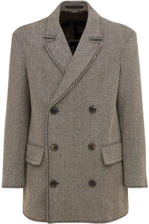 GIORGIO ARMANI Mænd Frakker - Double Breasted Wool Blend Caban Coat