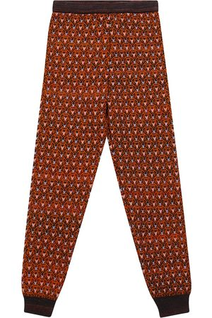 paade mode Patterned wool-blend leggings