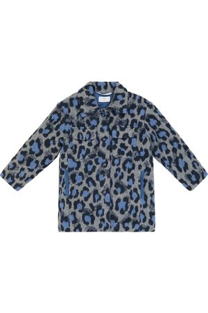 paade mode Leopard-print wool and cotton-blend coat