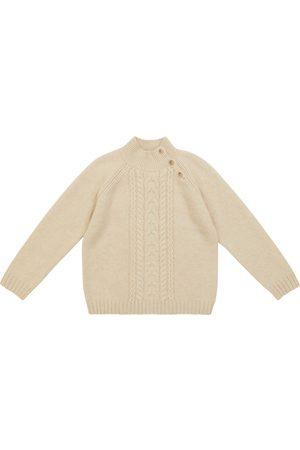 Bonpoint Cable-knit cashmere-blend sweater