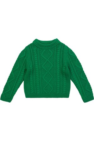 Bonpoint Cable-knit cotton and wool-blend sweater