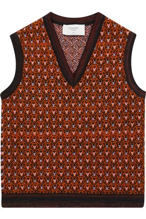 paade mode Patterned wool-blend vest