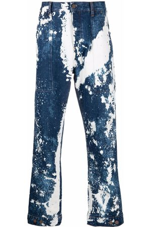 Palm Angels Mænd Mobil Covers - Blegede Galaxy jeans med løs pasform
