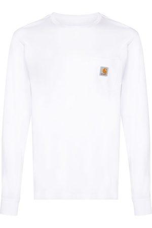 Carhartt Langærmet T-shirt med logomærke