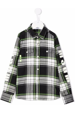 Msgm Piger Sweatshirts - Check-print shirt