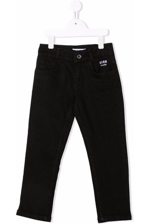 Msgm Piger Jeans - Embroidered-logo jeans