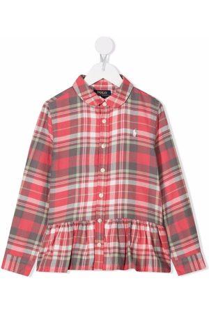 Ralph Lauren Piger Langærmede skjorter - Skjorte med peplum-kant og knapper