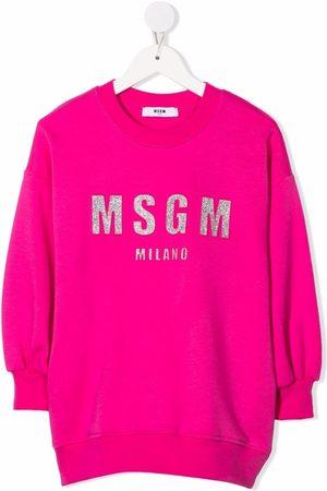 Msgm Logo-print sweat dress
