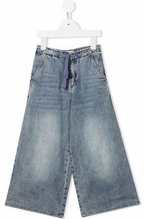 Longlivethequeen Wide-leg faded jeans