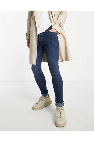 French Connection Super-skinny jeans med stretch i mørkeblå