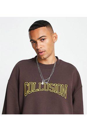COLLUSION Oversized sweatshirt med varsity-broderi - Del af sæt