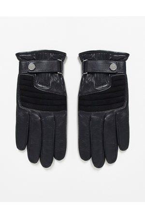 HUGO BOSS HUGO - Sorte læderhandsker