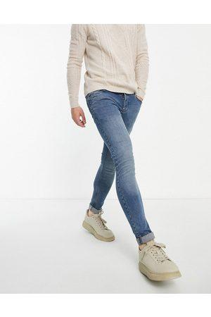 French Connection Mellemblå skinny-jeans med stretch-Marineblå
