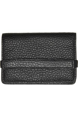 COMMON PROJECTS Mænd Punge - Black Grained Accordion Wallet