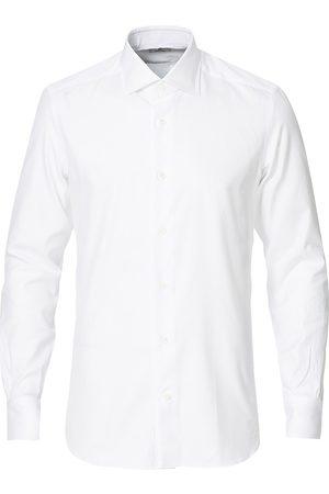 MAZZARELLI Mænd Langærmede skjorter - Soft Cotton Cut Away Shirt White