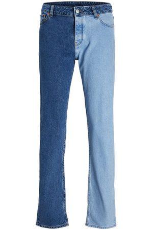 JACK & JONES Mænd Straight - Jxseoul Cr3102 Straight Fit Jeans Kvinder Blue; Brown
