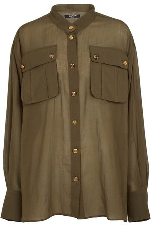 Balmain Longline cotton shirt