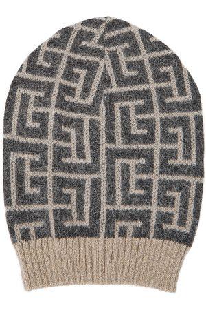 Balmain Monogram wool-blend beanie