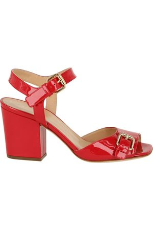 Sergio Rossi Patent Leather Buckle Sandals