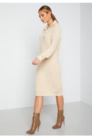 Ichi Novo Knitted Dress 121403 Tapioca