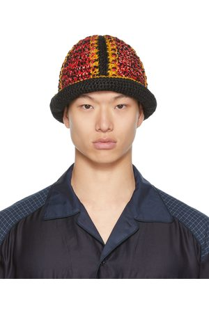 Nicholas Daley Mænd Hatte - Red & Yellow Hand-Crocheted Bucket Hat