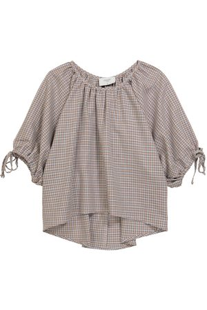 PAADE Houndstooth cotton and wool top