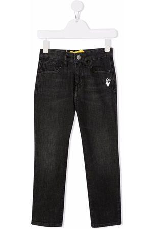 OFF-WHITE Slim-Diag jeans med logotryk