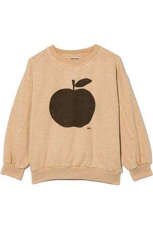 Bobo Choses T-shirt med æble-tryk og rund hals
