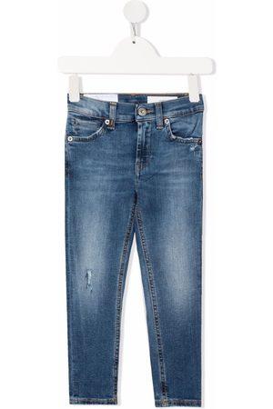 Dondup Jeans med falmet effekt og logomærke