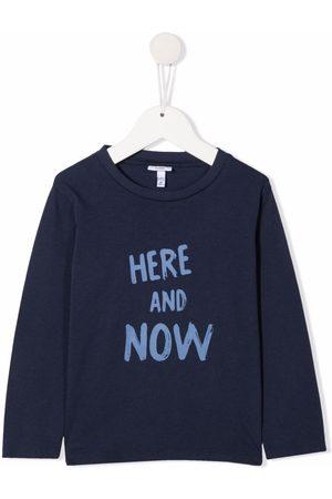 KNOT Drenge Kortærmede - Here And Now T-shirt med slogantryk