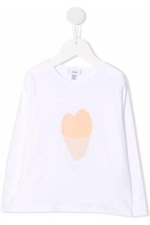 KNOT T-shirt med hjertetryk