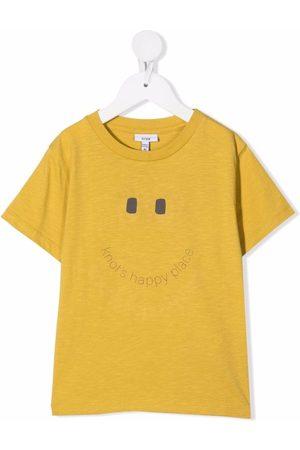 KNOT Drenge Kortærmede - T-shirt med smil-tryk