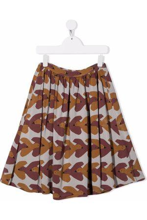 Bobo Choses All-over swallows-print midi skirt
