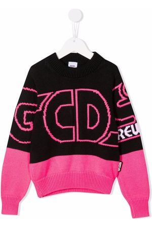GCDS Color-block intarsia sweater