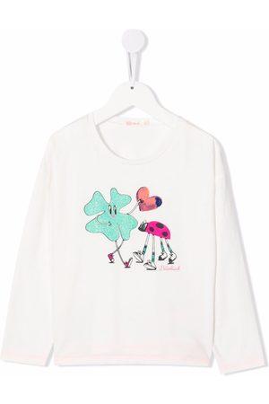 Billieblush Piger Langærmede - Logo-print long-sleeved T-shirt