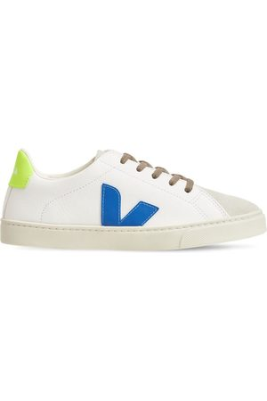 Veja Drenge Sneakers - Chrome-free Leather Lace-up Sneakers