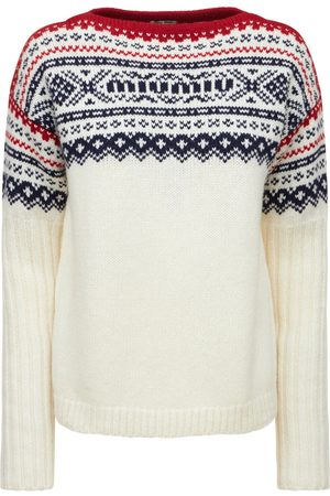 Miu Miu Virgin Wool Knit Crewneck Sweater