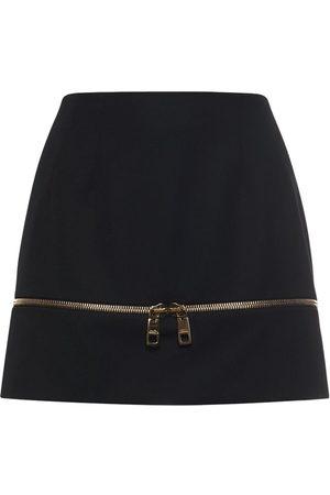 Dolce & Gabbana Wool Tailoring Mini Skirt W/zip Detail