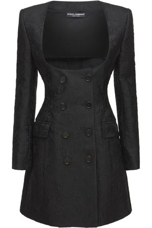 Dolce & Gabbana Cotton Jacquard Tweed Blazer Dress