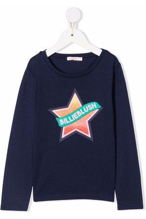 Billieblush Star-print long-sleeved T-shirt